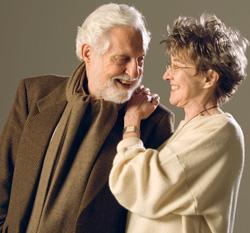 Professors Diane Middlebrook and Carl Djerassi