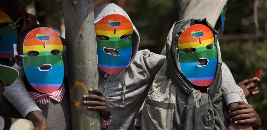 Protesting the AHA in Uganda